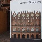 Bild av rådhusgaveln. Stralsund