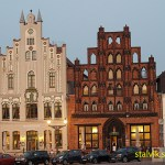 """Gavelhuset """"Alter Schwede"""" (hö). Wismar (U)"""