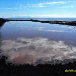 Saltbassängerna i Salinas de Fuencaliente