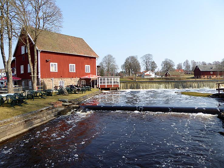 Cykla Ätradalsleden. Falköping - Falkenberg. Basta kvarn. Blidsberg.