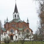 Cykla Ätradalsleden. Falköping - Falkenberg. Tranemo kyrka