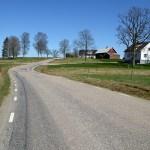 Cykla Ätradalsleden. Falköping - Falkenberg. Vacker landsväg mellan Ambjörnarp och Fegen