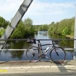 Cykla Ätradalsleden. Falköping - Falkenberg. Den gamla järnvägsbron. Ätran