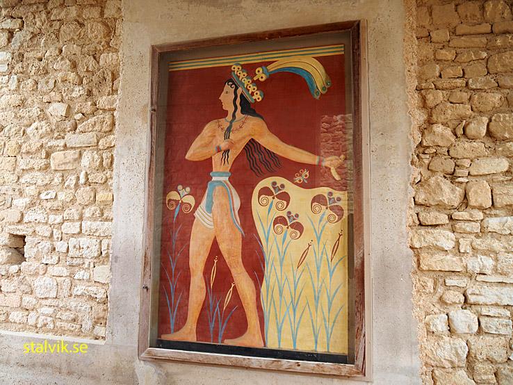 "Fresken ""Liljeprinsen"". Knossos"