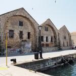 Tre neorior, skeppsrenoveringslokaler från 1500-talet. Chania