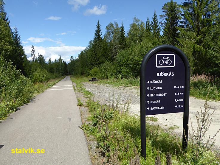 Cykla i Ludvika kommun. Den nedlagda järnvägen till Ludvika. Grängesberg