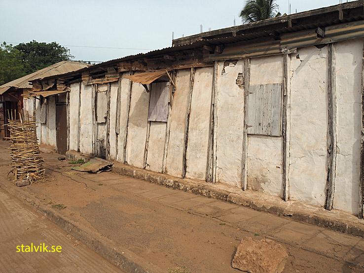 Kreolskt trähus. Banjul