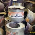 Behållare som innehållit giftgasen Zyklon B. Auschwitz
