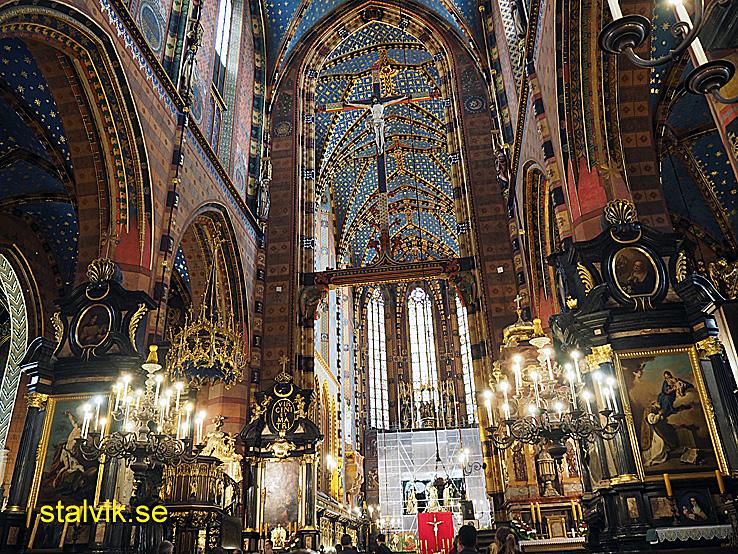 Den Heliga Marias basilika. Krakow (U)