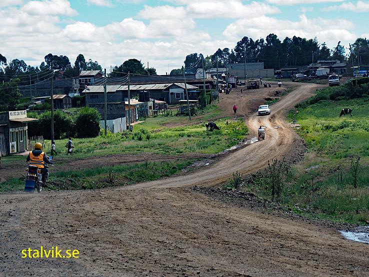 På vägen till Lake Nakuru