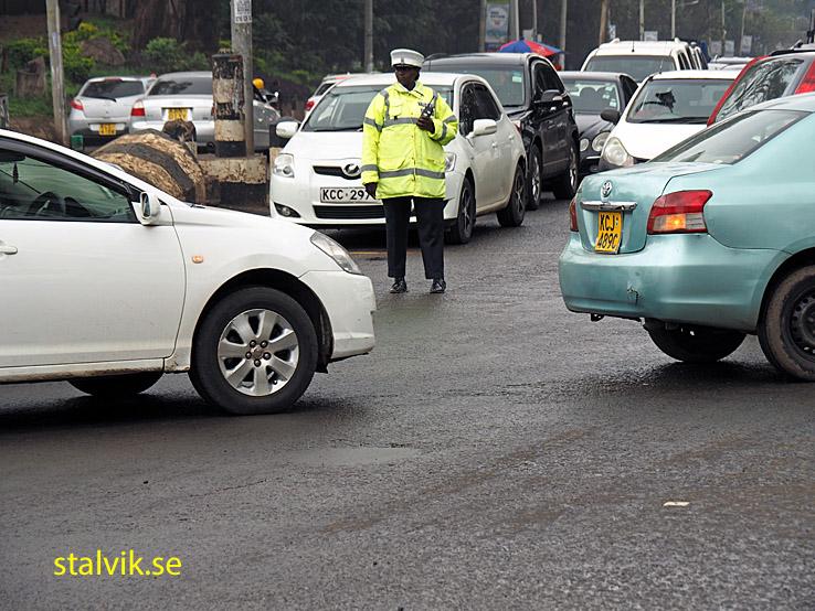 Kaotisk trafik i Nairobi
