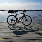 Cykla i Småland. Badplatsen i Jät