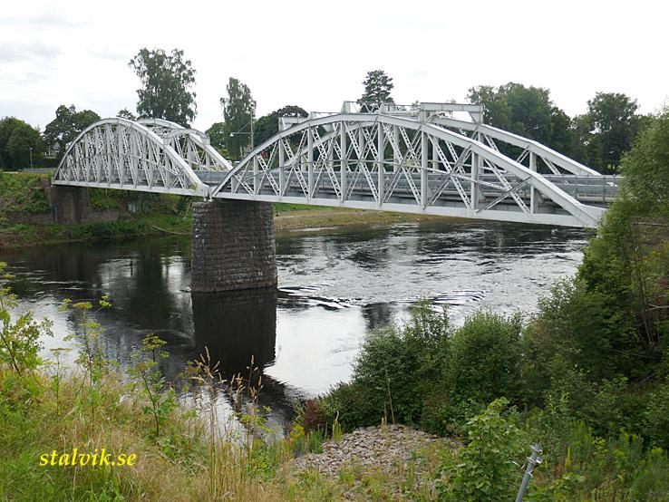 Klarälvsbanan. Den gamla bron. Forshaga
