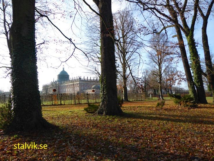 Park Sanssouci med Neues Palais. Potsdam