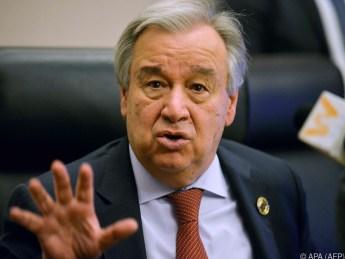 UNO-Generalsekretär Antonio Guterres fordert Reformen