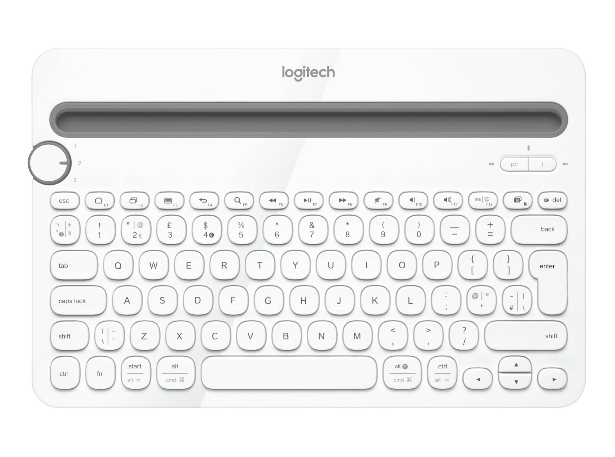 Buy Logitech K480 Bluetooth QWERTY Turkish White mobile
