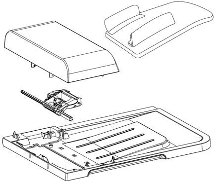 HP CC434-67902 Auto document feeder (ADF), 0 in
