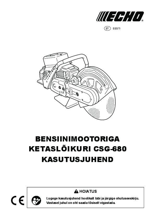 Ketaslõikur CSG-680, Echo, echo