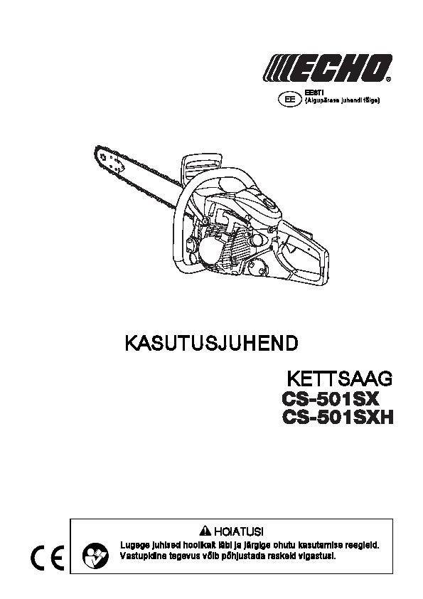 Mootorsaag ECHO CS-501SXH, Echo, echo