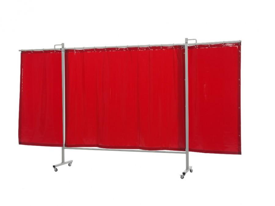 welding curtain with frame orange 200x375 w cm omniumtriptych cepro international bv