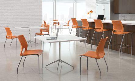 orange office chair kohls lounge cushions modern multipurpose chairs, bar stools and break room furniture