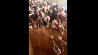 Viral Warga Rebutan Gali Gunung Emas di Kongo Dikaitkan Hadits Tanda Kiamat - Suara Jatim