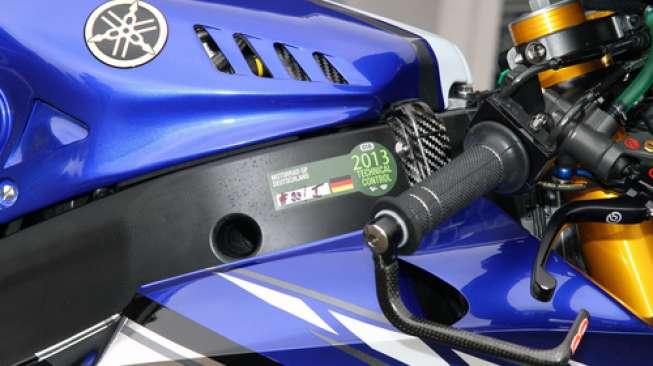 Ilustrasi sepeda motor sport Yamaha (Shutterstock).