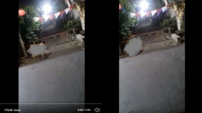 Viral video pasangan lakukan tindakan tidak senonoh di gang (twitter)
