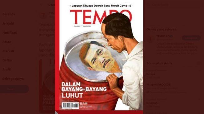 Heboh cover majalah Tempo berjudul 'Dalam Bayang-Bayang Luhut' (ist)