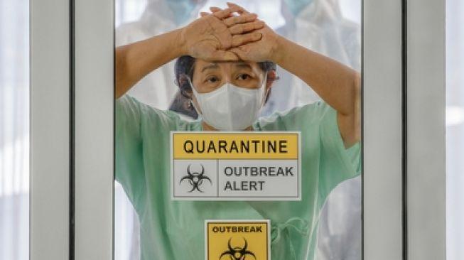 Ilustrasi virus Corona Covid-19. (Shutterstock)