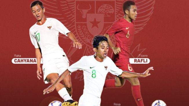 Tiga pemain Persija U-16 yang ikut TC Timnas Indonesia U-16 [Dok. Persija].