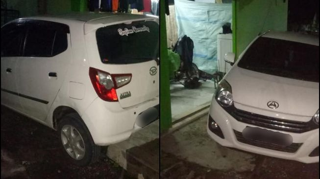 Viral Daihatsu Ayla parked carelessly, the ending got a 'love letter'.  (Facebook)