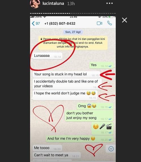 Lucinta Luna ungkap obrolannya dengan Fatih Seferagic. (Instagram)