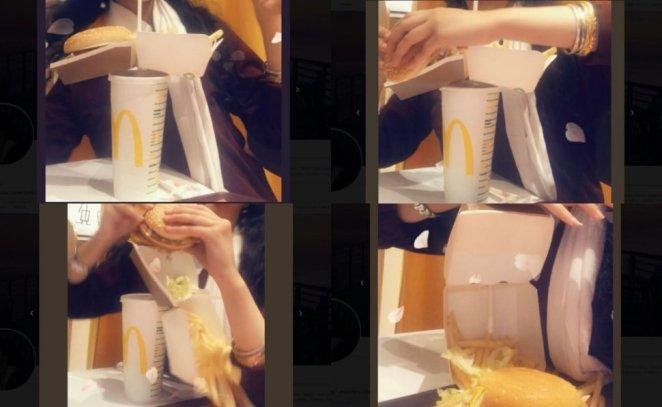 Viral Trik Makan McDonalds Satu Tangan (twitter.com/heymccartncy)