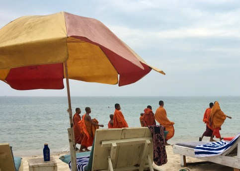 Munkar på beachen