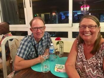 Pär och Ingegerd på Porto Habana