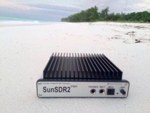 SunSDR2 PRO on FT4JA Beach