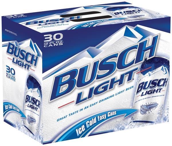 12 fl oz can busch light beer 30 pack