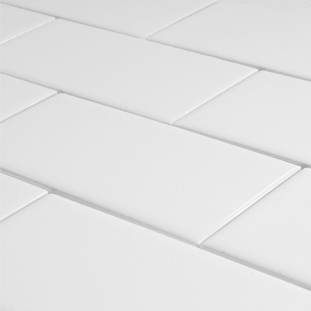 3 inch x 6 inch largo white subway tile