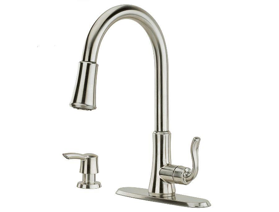cagney 1 handle pull down kitchen faucet