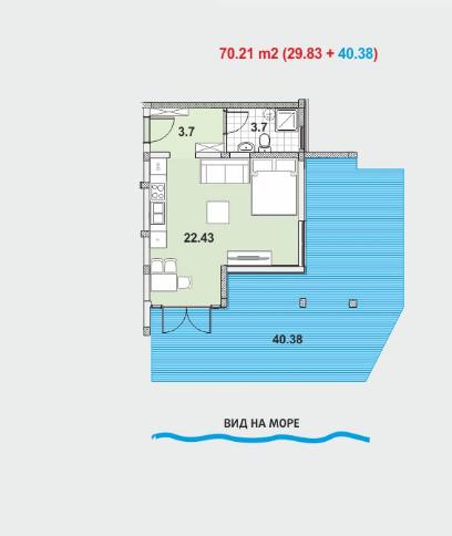 Apartman u luksuznom stambenom kompleksu - Herceg Novi, Topla