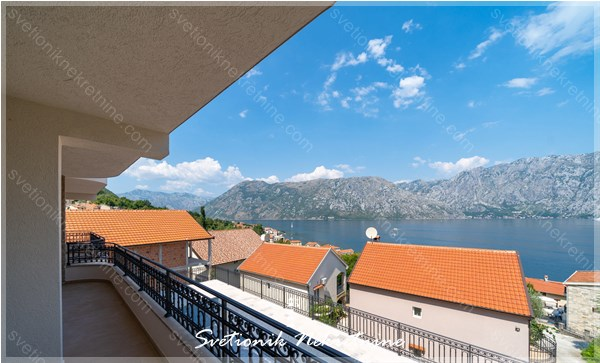 Prodaja stanova Kotor - Moderni stanovi u novogradnji sa lepim pogledom na more, Prcanj