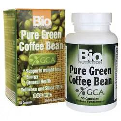 Bio Nutrition Pure Green Coffee Bean 800 mg 50 Caps ...