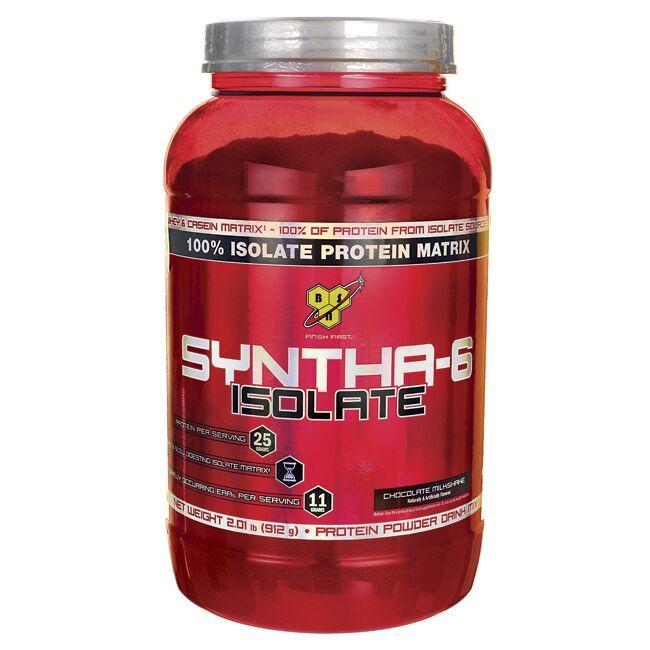 BSN Syntha-6 Isolate - Chocolate Milkshake 2.01 lbs Pwdr - Swanson Health Products