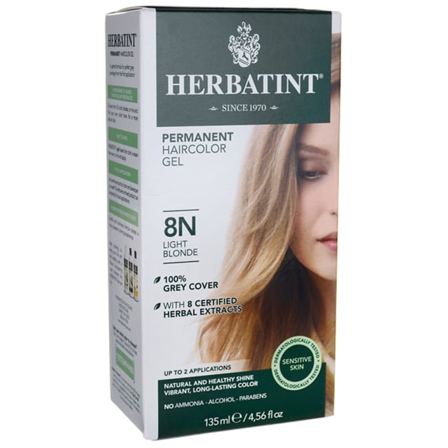 Herbatint Permanent Haircolor Gel 8N Light Blonde 1 Box