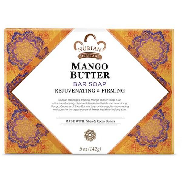 Nubian Heritage Mango Butter Bar Soap 5 oz 141 grams Bar