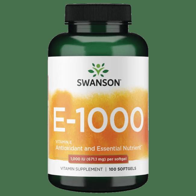 Swanson Premium Natural Vitamin E 1000 IU (671.10 mg) 100 ...