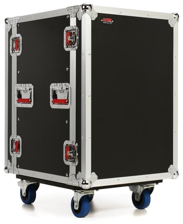 g tour 14u cast ata wood rack case with casters
