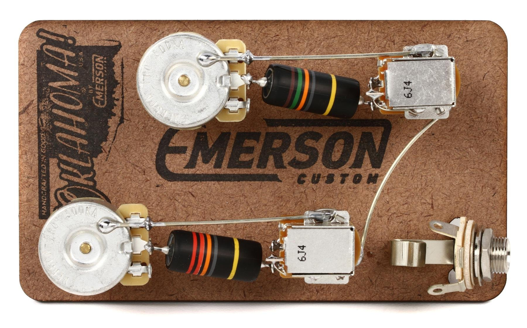 hight resolution of emerson custom prewire kit for gibson les paul guitars long shaft with push pull