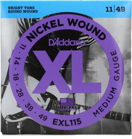 D'Addario EXL115 Nickel Wound Electric Strings - .011-.049  Medium/Blues-Jazz Rock | Sweetwater
